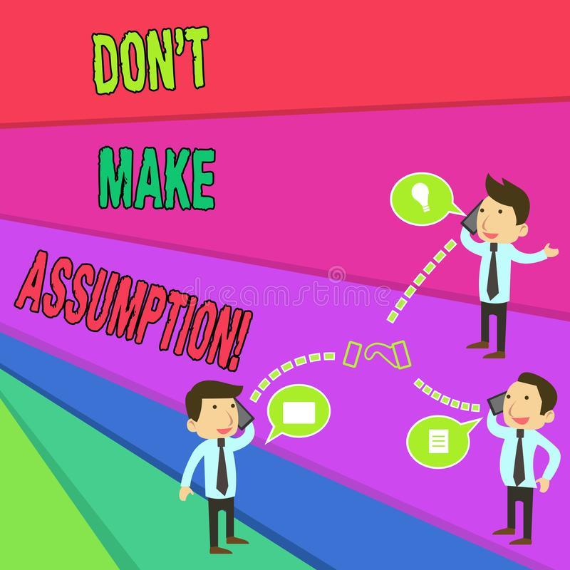 Assumption Stock Illustrations.