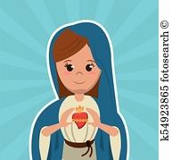 Assumption Mother God Clipart.
