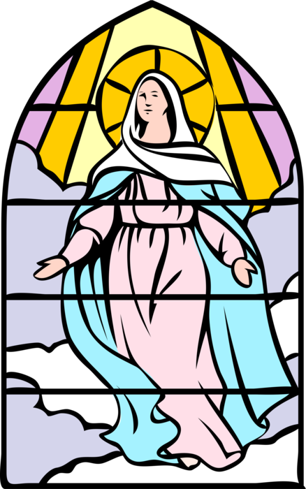 Download HD Vector Illustration Of Blessed Assumption Virgin Mary.