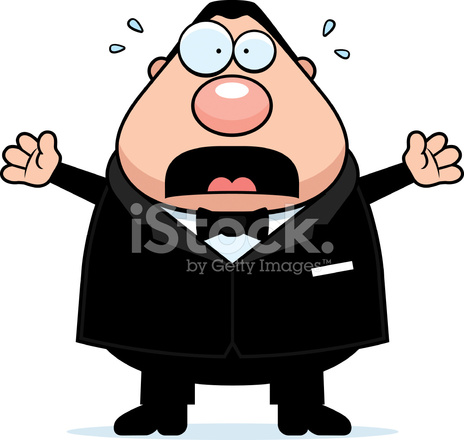 Cartoon Noivo Assustado Stock Vector.