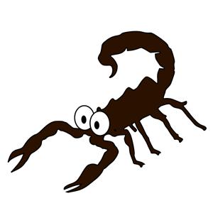 Escorpião assustado clipart, cliparts of Escorpião assustado.