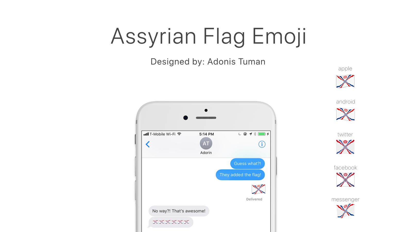 Petition · Make the Assyrian flag an Emoji! · Change.org.
