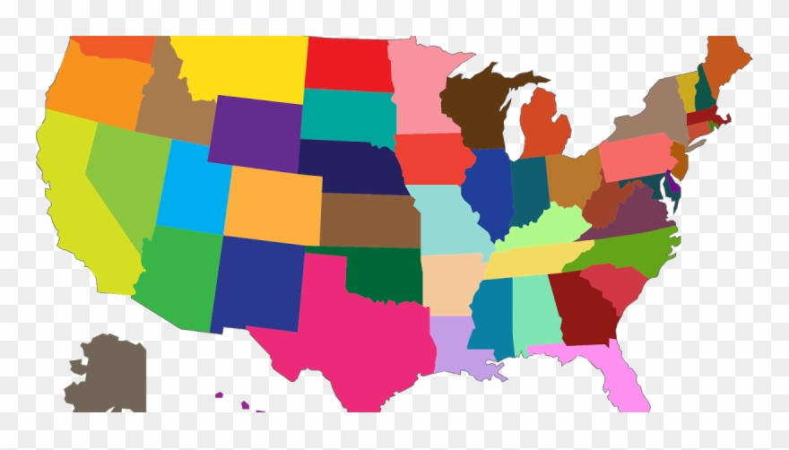 Most Popular Color By State Clipart (#1133686).