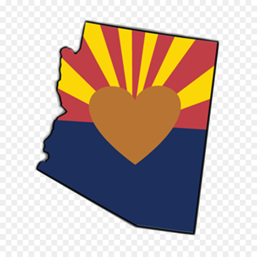 EcoVerde Flag of Arizona Sticker Heart Clip art.