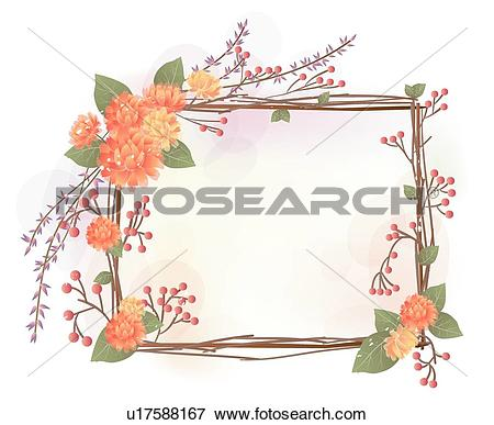 Clip Art of Background, flowers, yellow flower, Asteraceae, Floral.