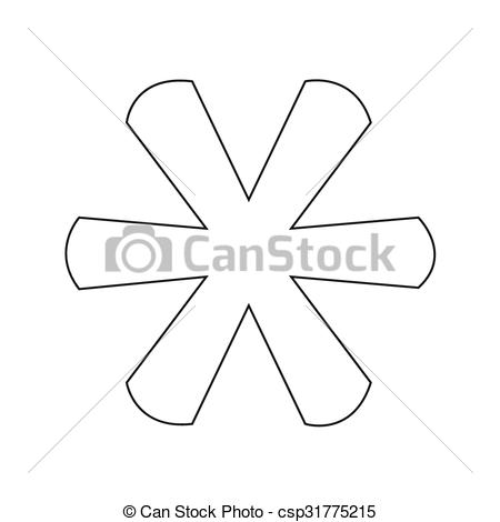 Vector Clip Art of Asterisk Footnote sign icon.