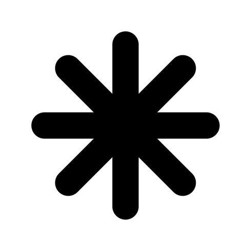 Asterisk vector.
