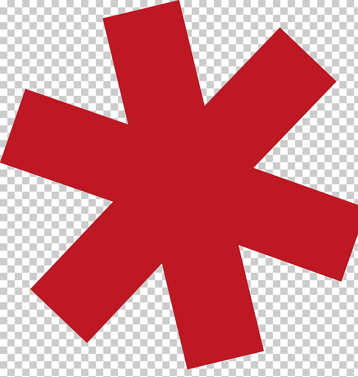 Asterisk Computer Icons , red star PNG clipart.