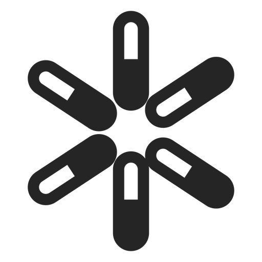 Abstract asterisk icon.