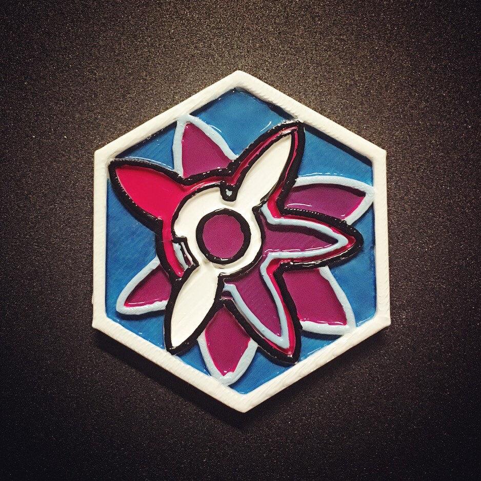 Seidoukan School Badge Pin Asterisk War Inspired.
