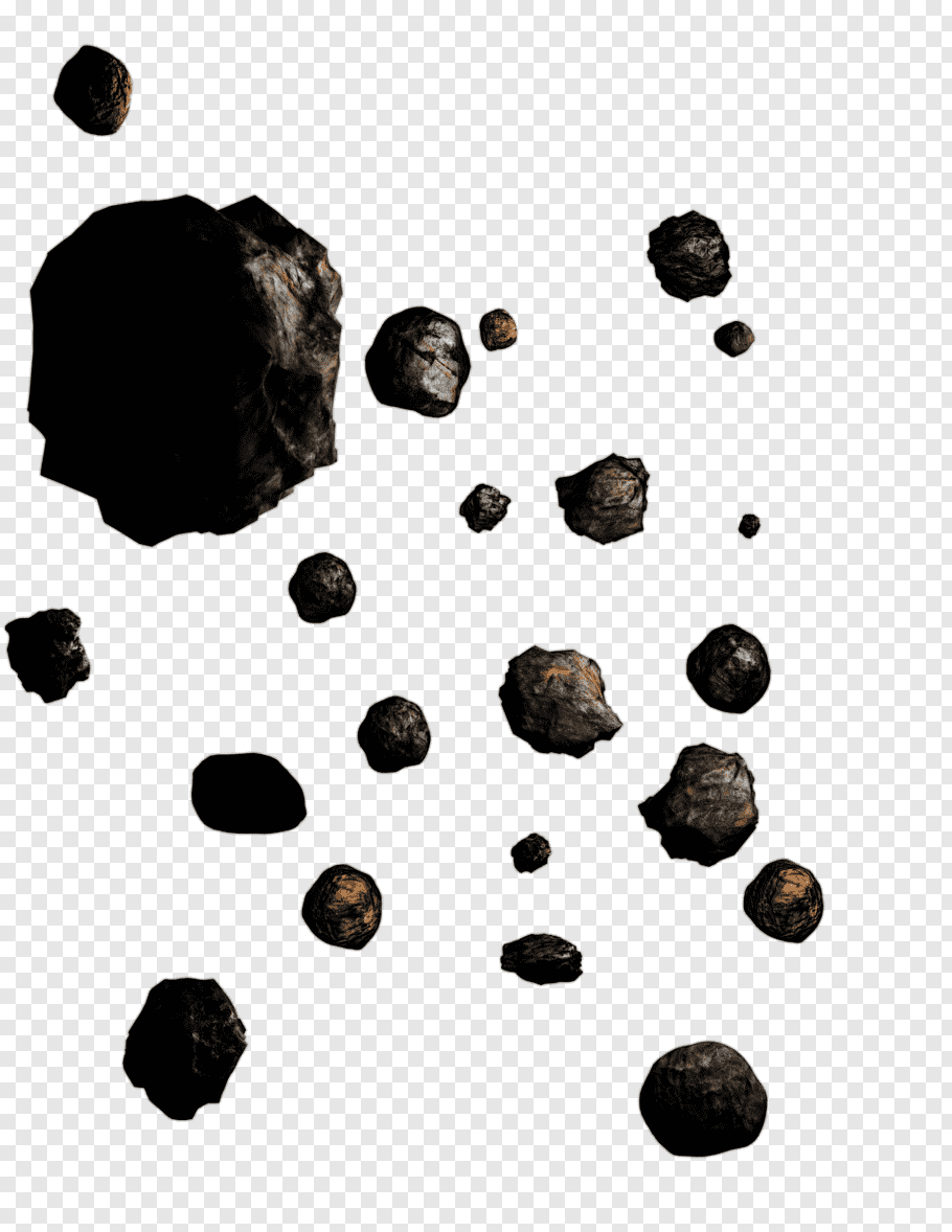 Black stones, Asteroid belt, Asteroid free png.
