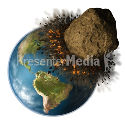 Earth Hit By Asteroid.