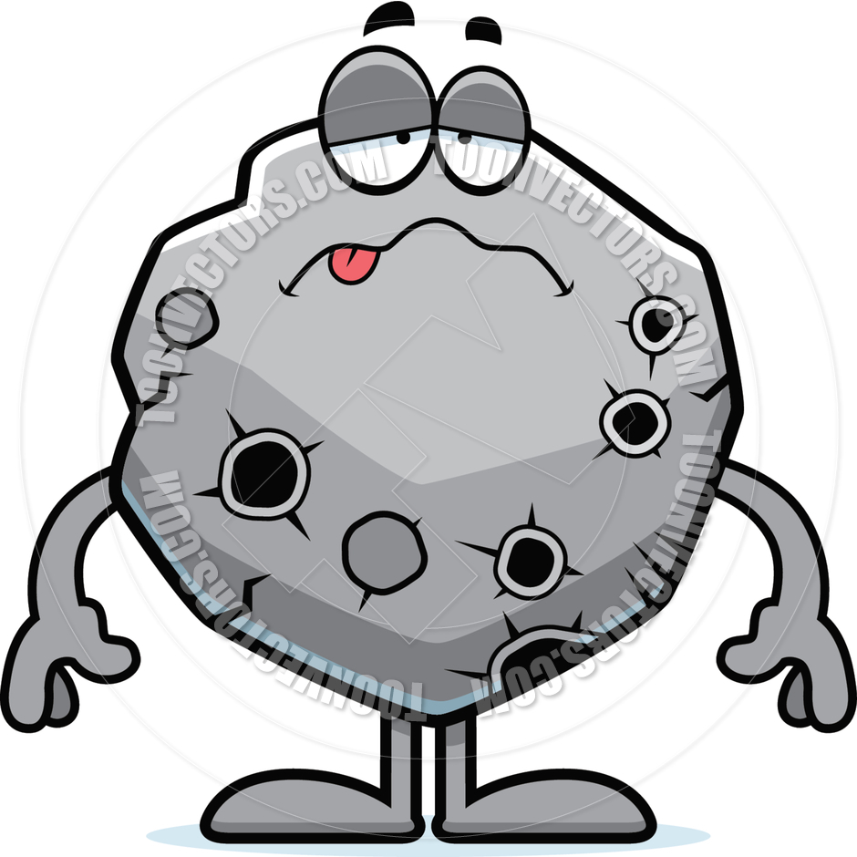 Asteroid Black And White Clipart.