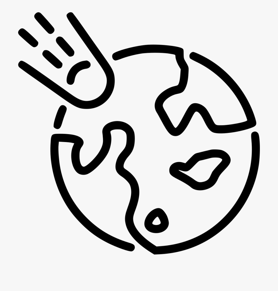 Earth Asteroid Svg Png Icon Free Download.