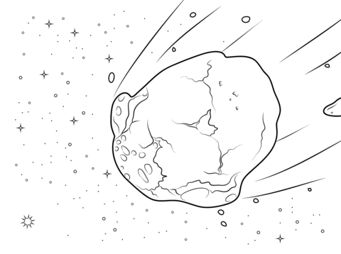Asteroid clipart black and white, Asteroid black and white.