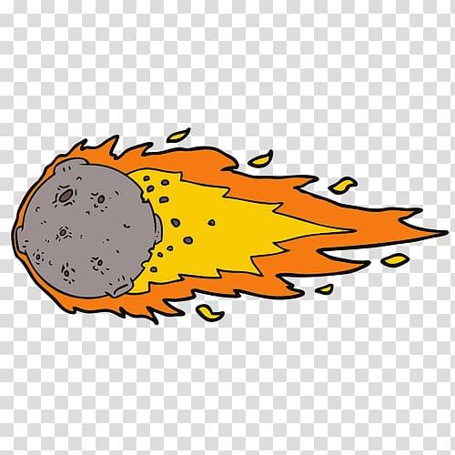 ESL Federal Credit Union Asteroid Email Cartoon , meteor.