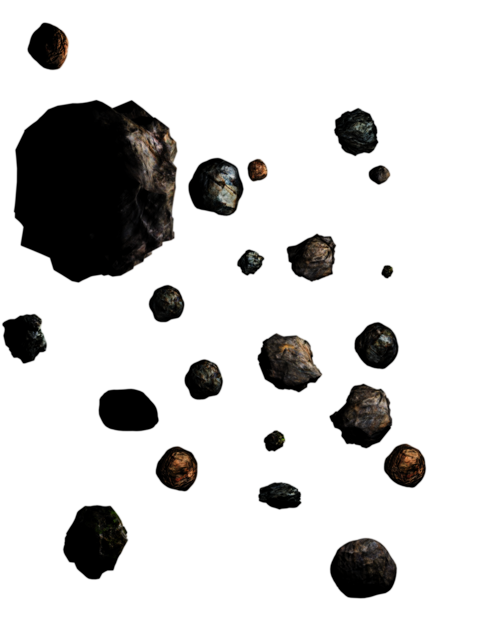 Asteroid belt Clip art.