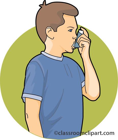 clipart of boy with inhaler #19