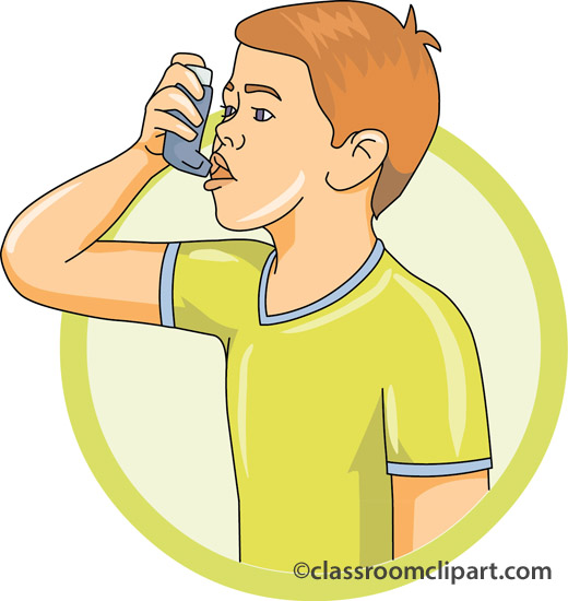 clipart of boy with inhaler #20