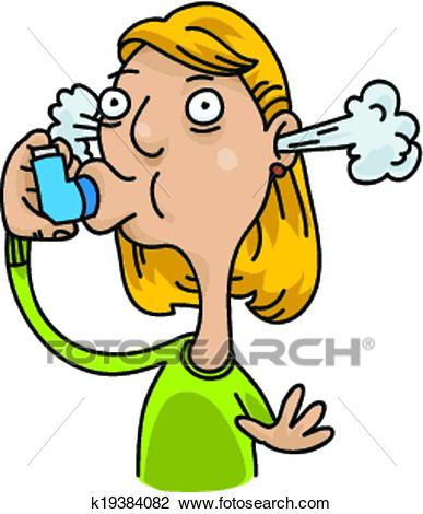 Asthma Inhaler Clipart.
