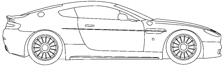 Aston martin mobile clipart.