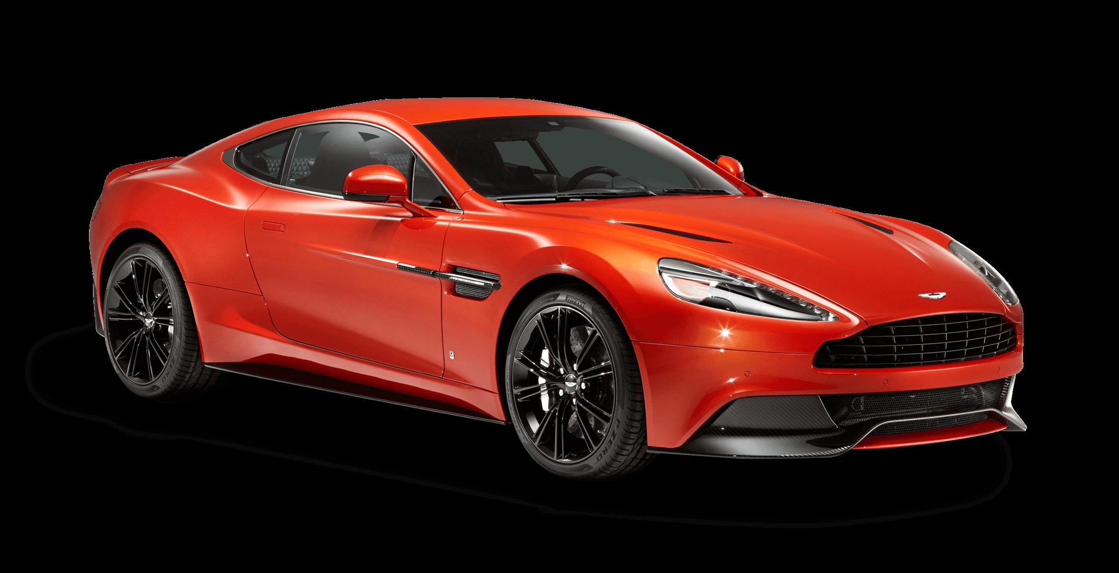Red Aston Martin transparent PNG.