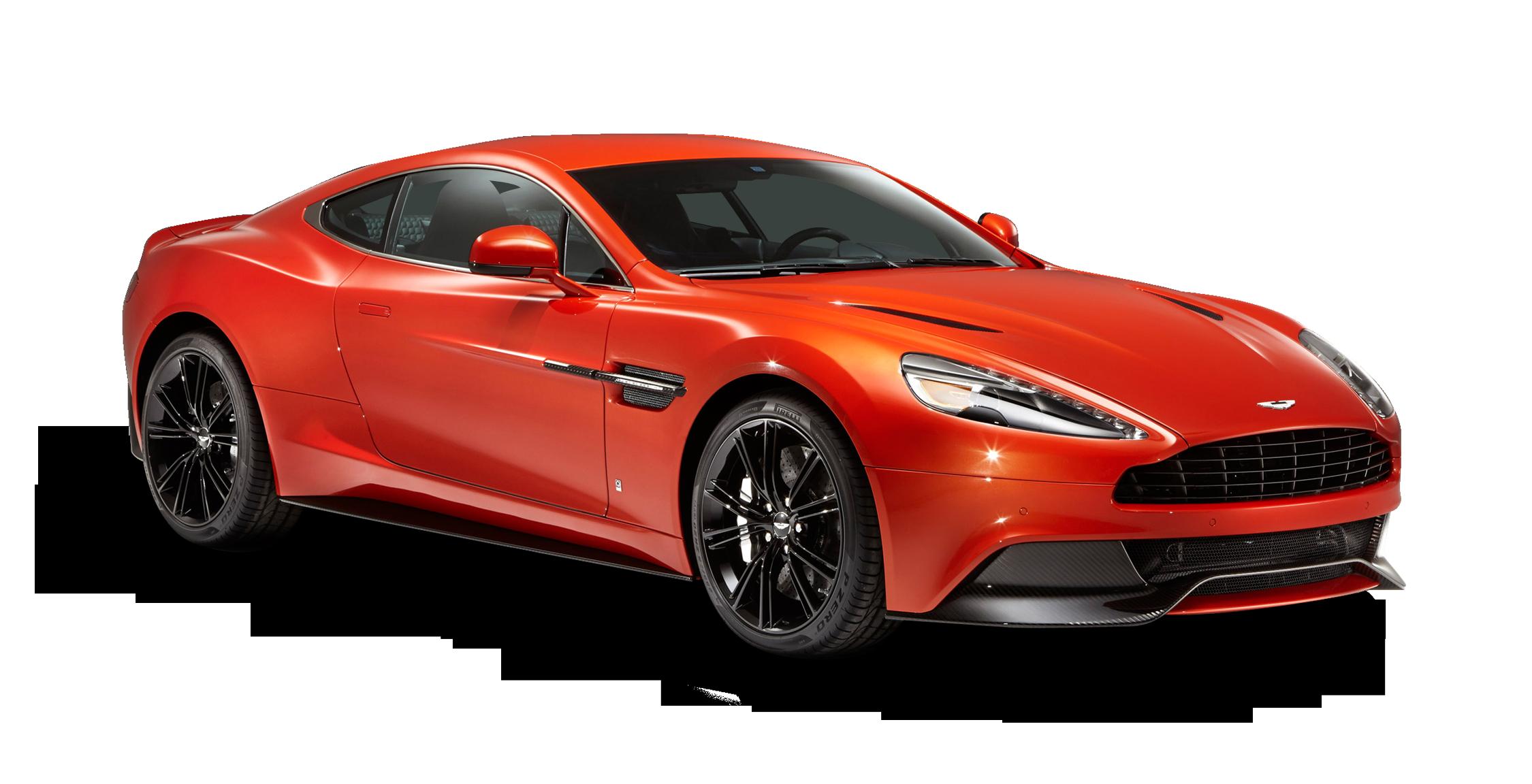 Aston Martin Vanquish Red Car PNG Image.