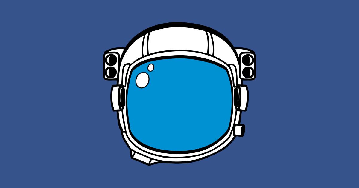 Blue Astronaut Helmet Clipart by australianmate.