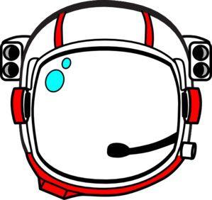 Red Astronaut Helmet clip art.