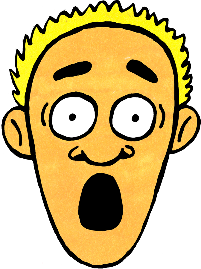 Shock Face Emotion Clipart.