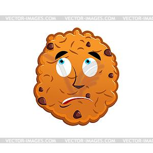 Cookies surprised Emoji. biscuit emotion astonished.