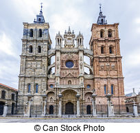 Stock Photos of Cathedral of Astorga, Leon, Spain csp7222363.