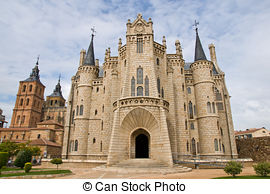 Stock Images of Gaudi palace (Astorga, Spain) csp8375655.
