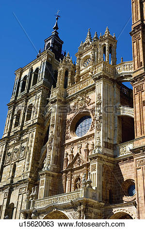 Stock Photo of Spain, Castilla leon, Leon, Astorga, City, Town.