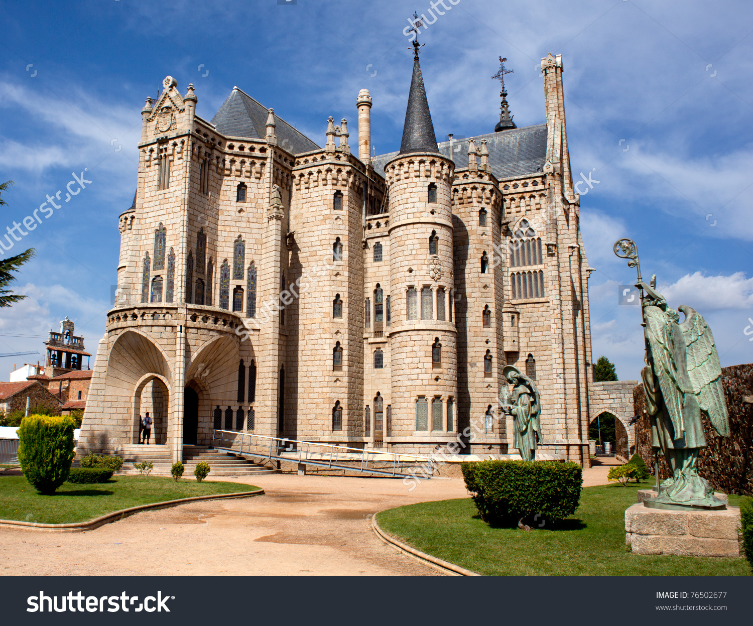 The Episcopal Palace, Modernisme Edifice In Astorga Stock Photo.