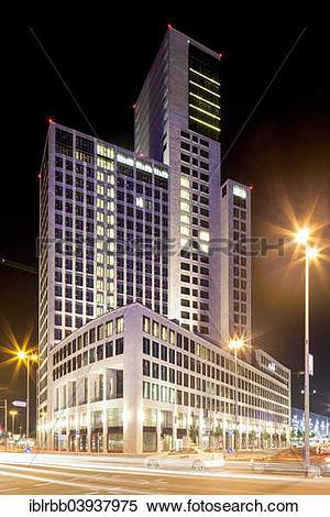 """Stock Image of """"Zoofenster skyscraper, Waldorf."""