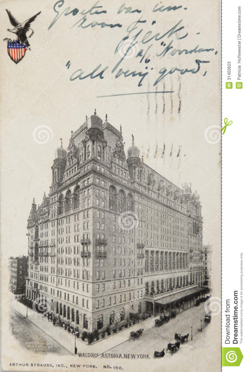 Waldorf Astoria Hotel Editorial Stock Photo.