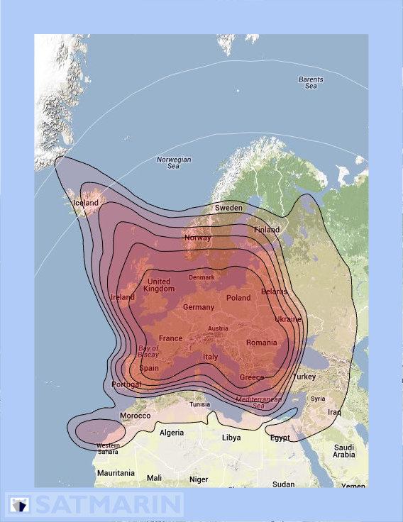 Is 23 satellite footprint image.