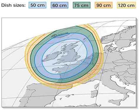 Astra Footprint : Brittany Satellites.