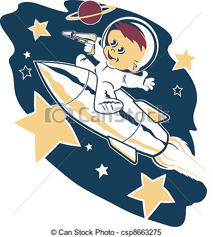 Clipart Vector of Astro Tot.
