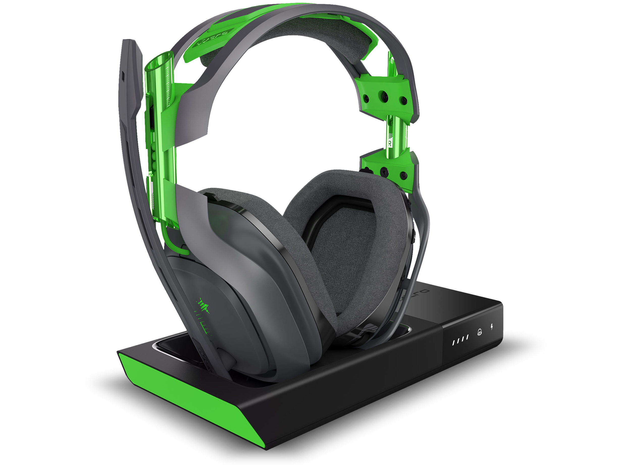 A50 Wireless Headset and Base Station.