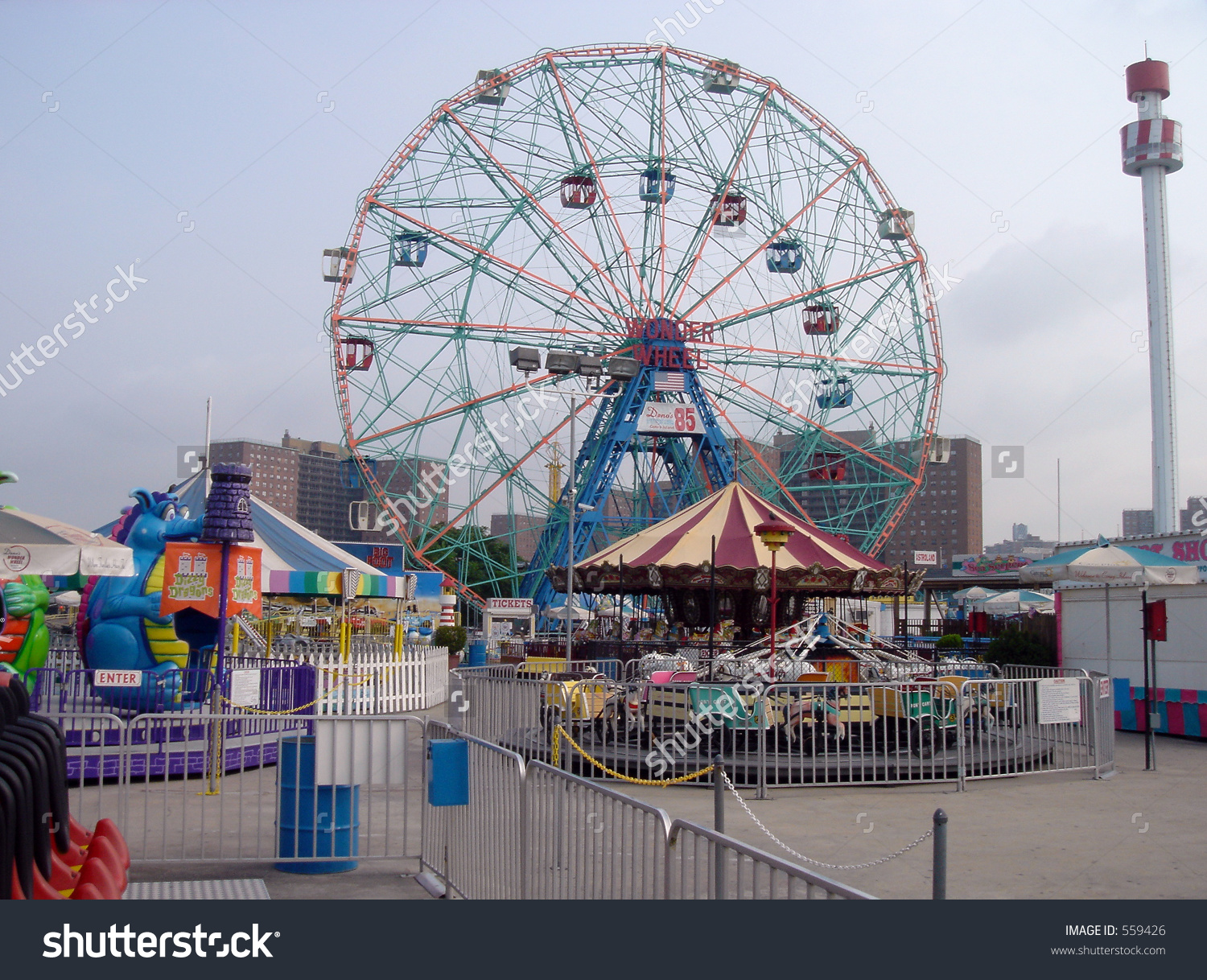Astroland Amusement Park Coney Island Brooklyn Stock Photo 559426.