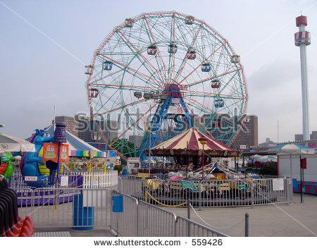 Astroland Amusement Park Coney Island Brooklyn Stock Photo 559426.