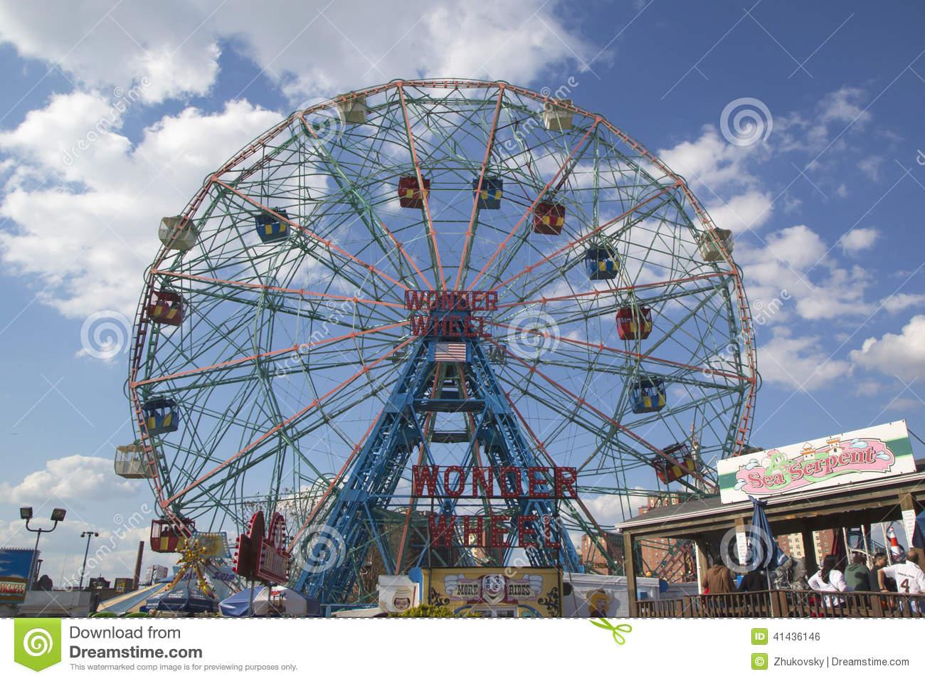 Wonder Wheel At The Coney Island Astroland Park Royalty Free Stock.