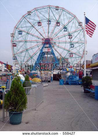 Amusement Astroland Coney Island Park Stock Photos, Royalty.