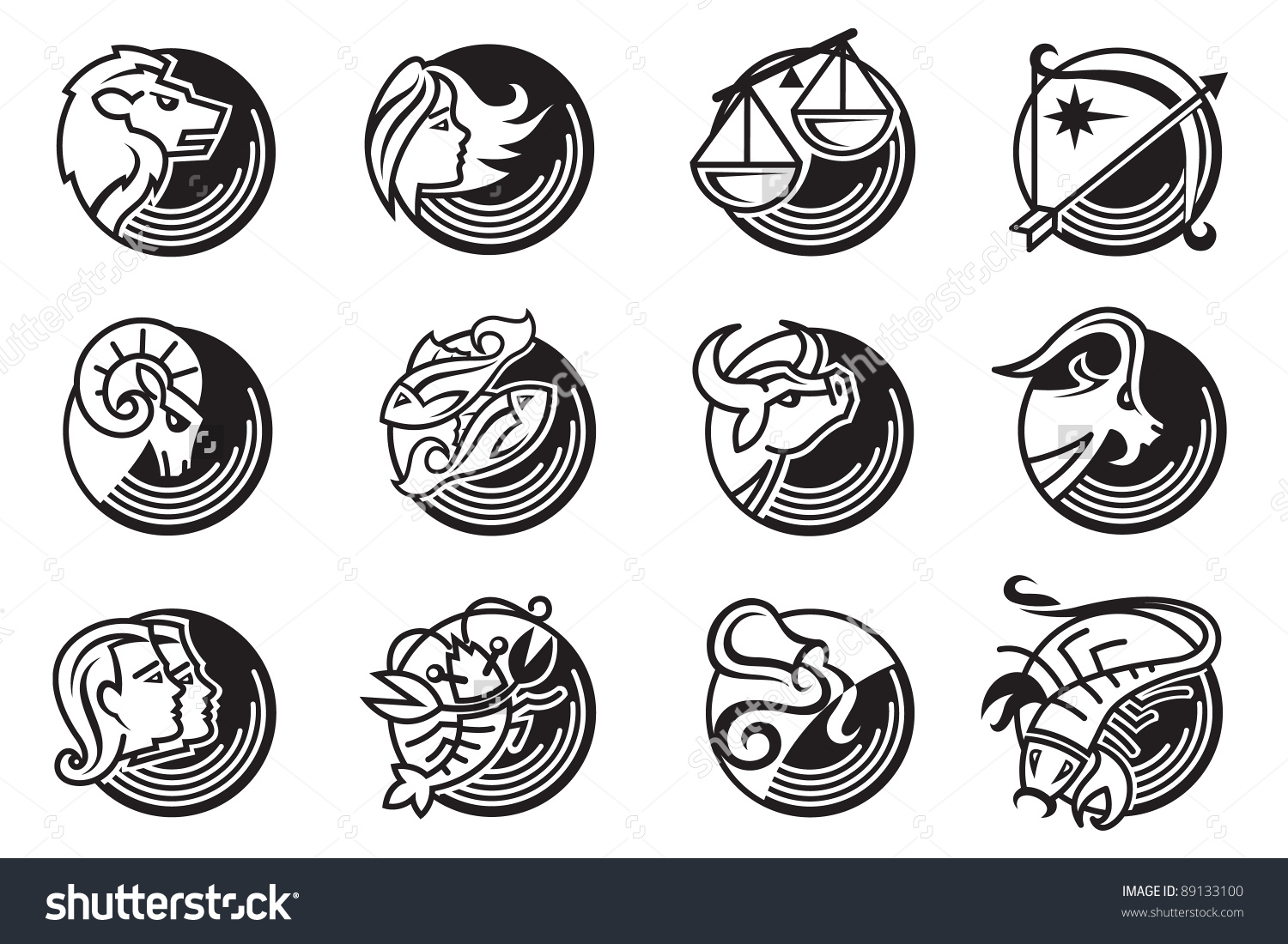 astrology signs clipart