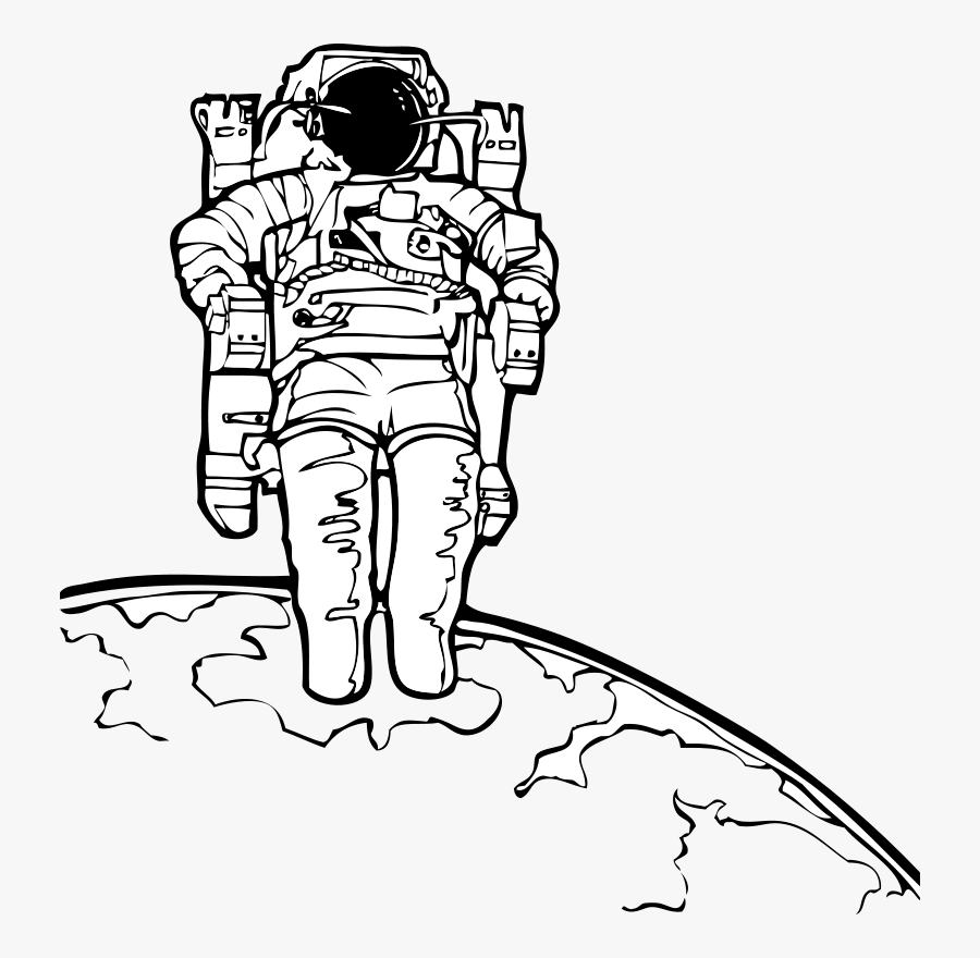 Astronaut Clipart Black And White , Free Transparent Clipart.