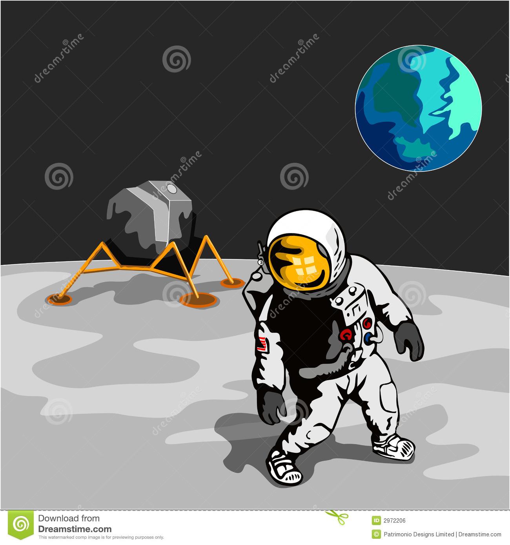Astronaut on moon clipart 5 » Clipart Station.