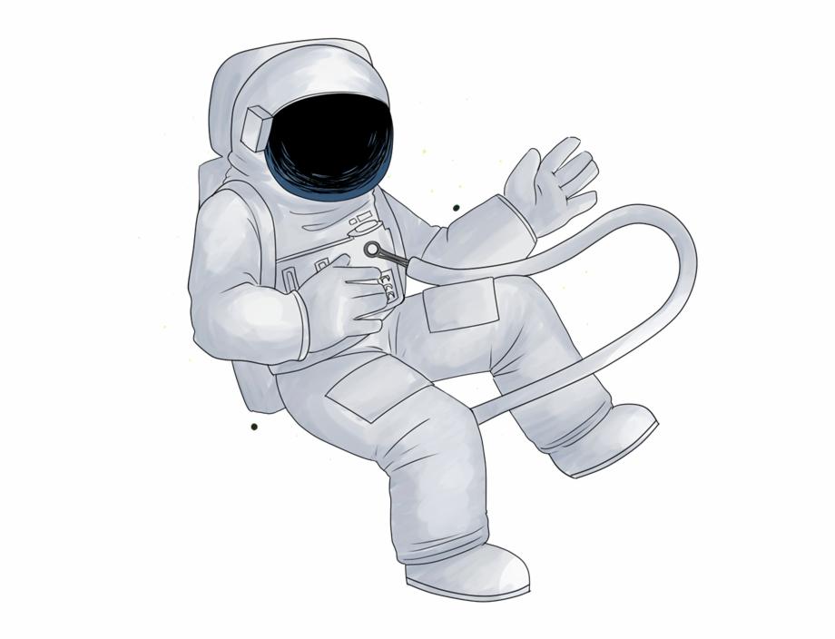 Astronaut Clipart Blank Background Cartoon Astronaut.