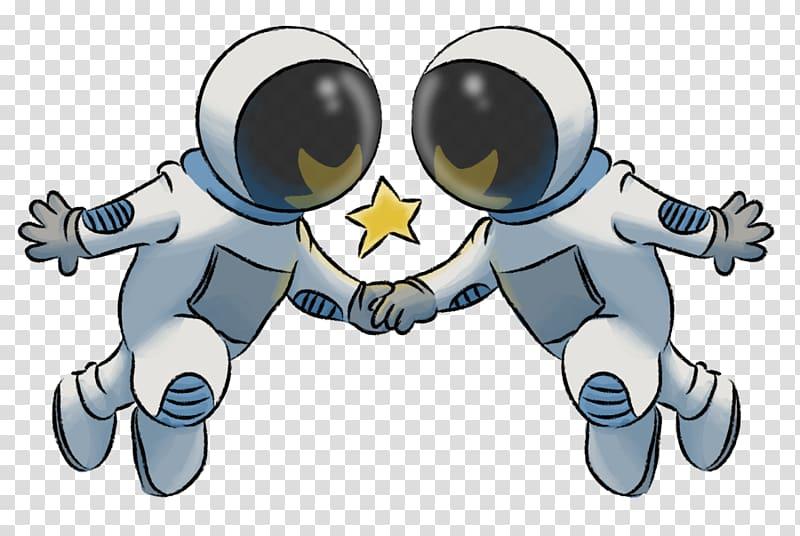 Astronaut Outer space Finger , cartoon astronaut transparent.